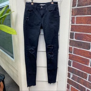 Levi's 535 Super Skinny Ripped Jeans